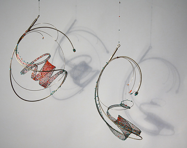Jan Truman - knitted wire with integral beads - sculptures and ...